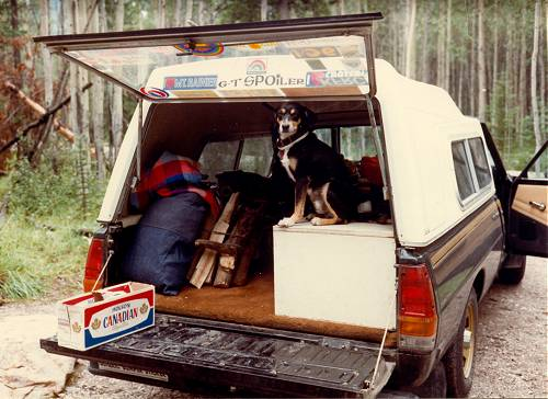 Truck camping with jack again this was more tent camping than truck camping back in the good old days when sleeping on the cold uneven ground was still acceptible sciox Choice Image